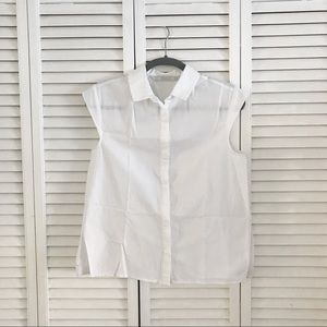 Zara Sleeveless Button-Up Blouse